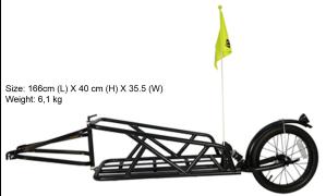 Zyflex single-wheeled bike trailer
