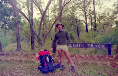 Julu 1989. Start of a winter hike, Bibbulum Track.