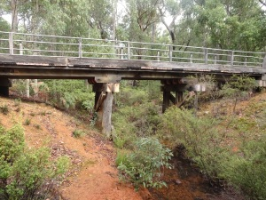 old wood railway bridge
