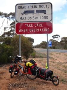 Roadtrain warning.