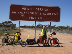 Australia's longest straight stretch. Where else in the world is the longest?