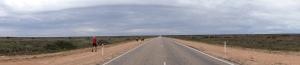 Straight stretch panorama
