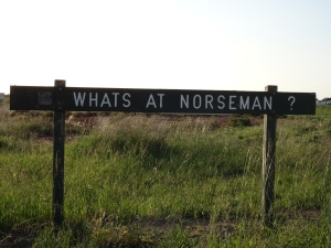 Indeed, what's at Norseman? asks the sign upon exiting Cocklebiddy