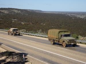 Madura Pass with vintage trucks