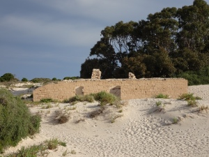 The Old Telegraph Station slowly being consumed by sand
