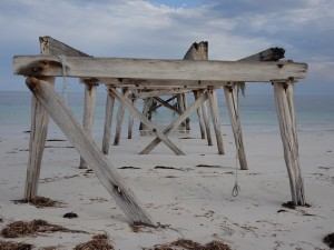 Eucla Jetty. Was once quite a structure