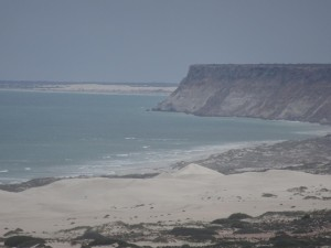 On the other side of the cliffs is where we saw the shark, at Eucla beach.