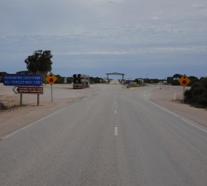 The border and the Western Australian quarantine check