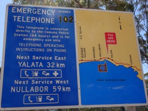 There are emergency phones, few and far between, for those of us who's phones lack signal strength or frequencies, like mine :(