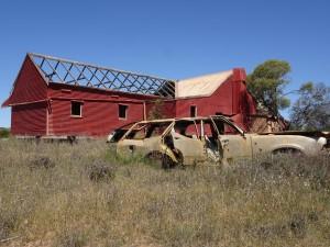 Abandoned farm & car