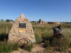 McKenzie's ruins plaque