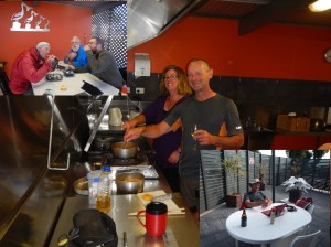 Cooking and eating with other legendary cyclists, Will, Jen and Rob