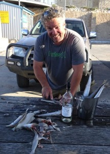 Larger than Life Jeff, Streaky Bay born and bred fisherman. With fish.