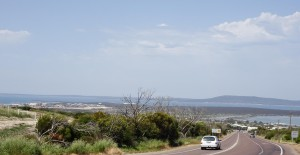 The long hill down to Port Lincoln