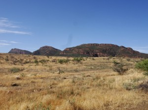 The sides of Wilpena Pound in the early morning light