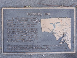 Goyder's Line. Below it we have agriculture and settlement. Above I shall be on my own with the deserts