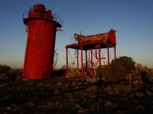 Amazing evening colours on the former water tank and de-mineralisation tank