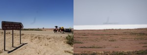Lake Eyre: -12 meters below sea-level. Pray the levee don't break
