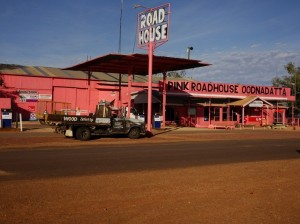 The Pink Roadhouse in the morning light
