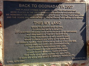 The story told by an Native (Pre-)Australian regarding their Land and their Culture in Oodnadatta