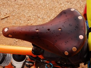 Yes, rain drops on my saddle. I wonder what's coming