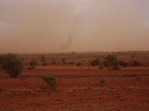 I get the dust storm. Quite an abrasive battering