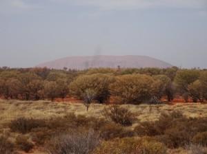 Uluru from a goood distance. It is an impressive sight