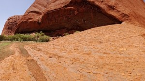A good example of Uluru's skirt which I walked on for much of the day