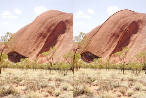 Proof Uluru is alive. Here's at least one of it's faces.