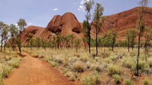 Uluru is visually spectacular