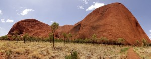 Uluru's overall shape changes constantly