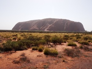 Uluru with The Climb clearly visible