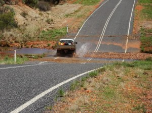 Even the 4WD take the floodways seriously and cautiously