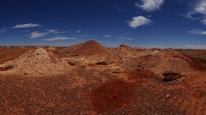 Coober Pedy badlands ... a vast area dotted with dirt pyramids