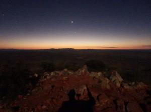 Mount Sonder summit, looking east