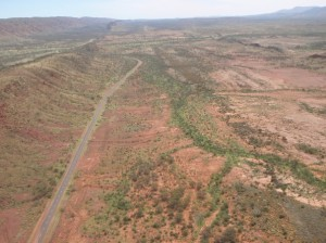 Namatjira Drive disappearing west