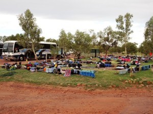 Imagine what the bedroom of two busloads of teenagers. We had that the other day. Fortunately it didn't rain, since they were sleeping out under the stars