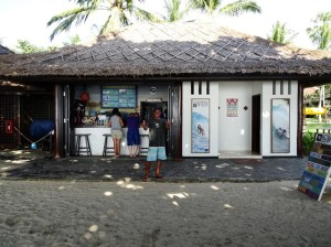 Gina's Rip-Curl surf school, in the grounds of the Intercontinental