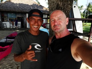 Win, surf-instructor at Rip-Curl's surf school. And me. Of coourse