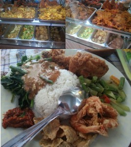 Indonesian makan, from a Warung. A true culinary delight
