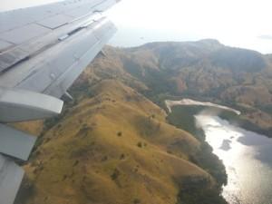 Rinca, as we descend towards Labuan Bajo