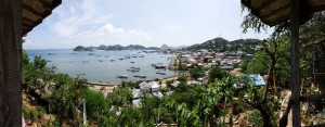 Labuan Bajo from our Selini bungalow