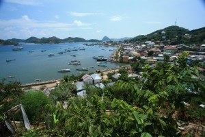 Downtown Labuan Bajo from our bungalow at Selini