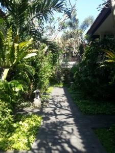Puri Raja's green corridors lead to the rooms and facilities.