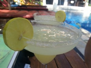 Margaritas. Of course. A necessary, if expensive, luxury.