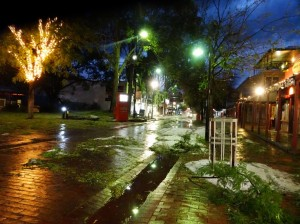 Alice's main street lights didn't work. Nor for the shops, which all closed many experiencing leaking roofs and floods