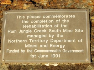 Rum Jungle is/was Australia's first large scale uranium mine – producing uranium for the American and British nuclear weapons from 1954 to 1971 (mininglegacies.org). Funnily enough I saw more wildlife at this site than I did inside Litchfield National Park. The interesting thing is that, Rio Tinto (parent mining company) did not rehabilitate the site. We taxpayers did. Again. As usual