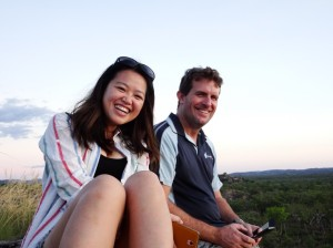 Evelyn and Scott enjoying a sunset somewhere dead famous in Kakadu that I can't remember the name of