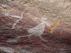 The Aborigines decorated their houses too, with lots of art