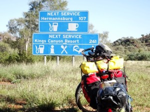 I decided to take the long route back from Glen Helen to Alice via Hermannsburg, 240 km total distance